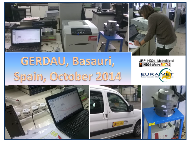 Testing the prototype at the GERDAU Steel Production unit in Basauri, Vizcaya (Spain) (October 15-17, 2014)