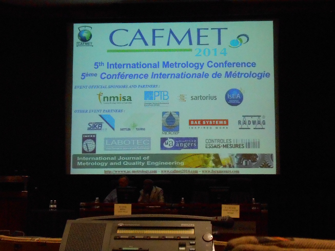 Project Presentation at CAFMET in South Africa (March 31st- April 3rd 2014)