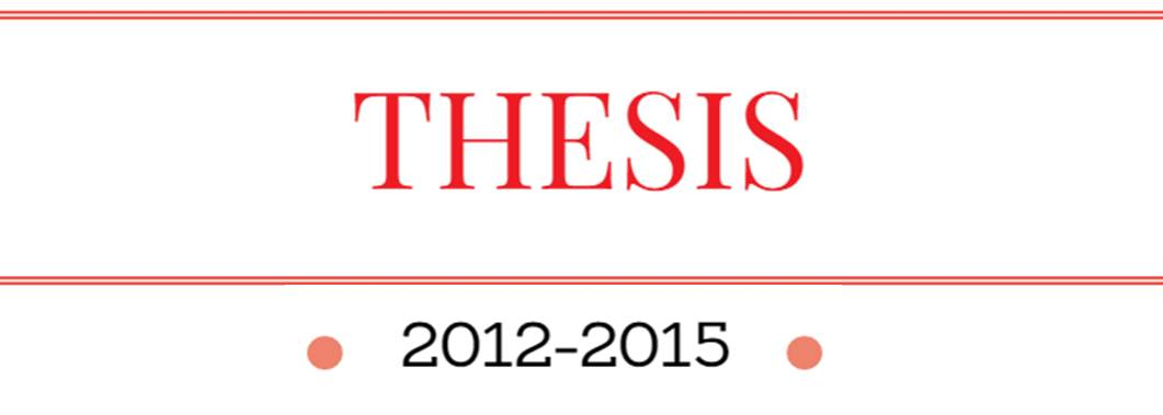 Thesis 2012-2015